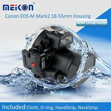 40M Waterproof Underwater Camera Housing Hard Case for Canon EOS-M2 18-55mm Lens