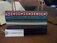 O'Neill Wallet -Savannah-Colorful woven Tribal Stripe Pink Blue pattern #1