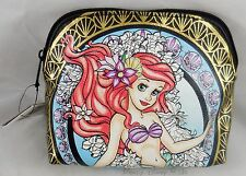 Disney The Little Mermaid Ariel Stained Glass Cosmetic Make-Up Tote Bag Purse
