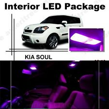 For Kia Soul 2011-2013 Pink LED Interior Kit + Pink License Light LED