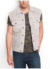 Guess Lucas Denim Vest In Asteroid Wash Size M