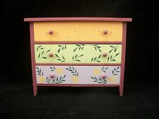 Painted Wide Dresser EWDP2123 Fashion Doll dollhouse furniture 1/6 & 1/8 Scale