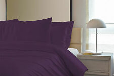 Plain Duvet Cover Bedding Set - Single Double King Including Pillow Cases