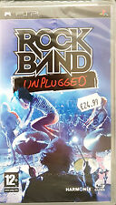 ROCK BAND: UNPLUGGED -2009- Sony PSP Game -PAL-