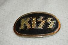 "1976 KISS Silver Prism Belt Buckle By Pacifica Mfg 3.5"" x 2.5"""