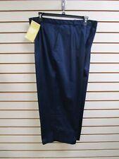 QVC Dialogue Cotton Sateen Stretch Crop Pants  Navy Blue Size 20W - NWT