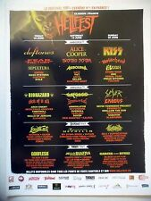 PUBLICITE-ADVERTISING :  HELLFEST (2)  2010 Kiss,Alice Cooper,Deftones,Slayer…