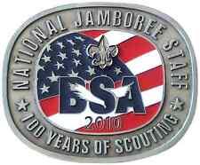 Boy Scout 2010 Jamboree Centennial Staff Uniform Belt Buckle Badge BSA OA NEW
