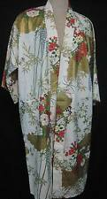 Japanese Cotton Kimono Hand Painted Wedding Flower Design Made in Japan New