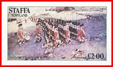 STAFFA / SCOTLAND 1976 AMERICAN REVOLUTION S/S £2.00 MNH MILITARY UNIFORMS