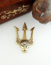ANTIQUE BRASS (2 Pieces) Poseidon's Trident Spear Stamping ~ Finding (FB-6071)`