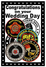 NORTHERN SOUL (PATCHES) - WEDDING DAY CARD - GLOSS FINISH - BRAND NEW