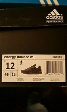 Adidas Mens Energy Bounce M size 12 Black Running Shoes Sneakers DS S83373
