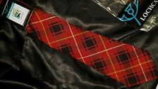 CLAN MACIVER Lochcarron ~RARE~VINTAGE~Tartan Plaid~Wool Tie~Made in Scotland NEW