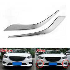 Front Fog Lights Lamp Eyebrow Foglight Eyelid Cover Trim For 6 Atenza 2013-2015