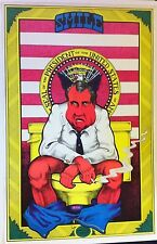 "Richard Nixon Smile On The Toilet Black Light Poster 1970's Aprox. 23"" x 35"""