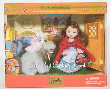 NIB BARBIE KELLY LITTLE RED RIDING HOOD DOLL STORYBOOK FAVORITE COLLECTION  2001
