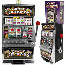 Large Scale Casino Slot Machine Coin Piggy Bank Toy Las Vegas Crazy Diamonds Fun