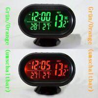 Auto Digital Innen/Aussen Thermometer/Spannung-Monitor/Uhr für Auto Neu