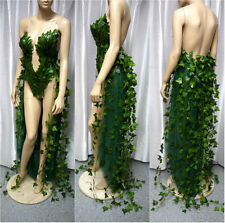 Poison Ivy Monokini Gown Dress Costume Rave Bra Rave Wear Cosplay Made to Order