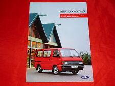 FORD Econovan Kastenwagen Kombi Bus XLT Prospekt von 1987