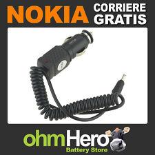 Caricabatterie Auto 12V Per Nokia 3230 3285 3300 3310 3360 3361 3390 3395