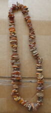 Antique Natural raw butterscotch  Baltic Amber Beads Necklace  99 grams  # 11s