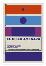 """Cuban movie Poster for French film""""Sky MENACE""""Minimalistic art.Yves Ciampi."""