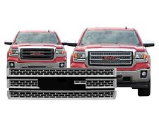 Chrome Grille Overlay Compatible with 2014 2015 GMC Sierra 1500 BASE / SLT / SLE