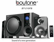 Boytone BT210FB Wireless Bluetooth 2.1 Speaker Bluetooth SD AUX USB FM Radio NEW