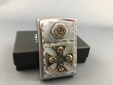 ZIPPO Bullet Cross Skull - awesome emblem lighter and brand new collectible