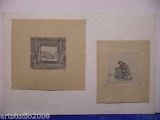 Max Radler:2 Bleistiftzeichnungen ,monogrammiert, datiert 45