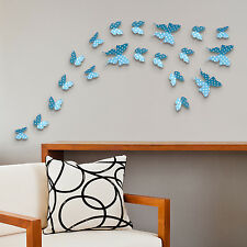 Blue White Dots Butterflies Self Adhesive Wall Decorations Stickers