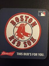 Boston Red Sox Budweiser Beer Coaster!  Budweiser