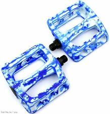 "Odyssey Twisted PC 9/16"" Bike Platform Pedals BMX MTB - Limited Blue Tie Dye"