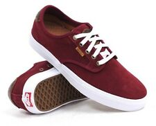 New Vans Mens 13 Chima Ferguson Saddle Port Red White Suede Shoes Skate Sneakers