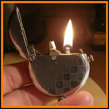 Briquet essence Thorens Circular - 1930 - RARE - vintage lighter Feuerzeug