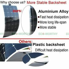 100W Bendable Flexible Solar Panel Mono PV Power for Roof,Shed,Tent,Car,Boat