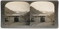 Keystone Stereoview Train Station in the Andes, CHILE from 1910's Education Set