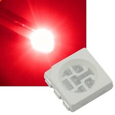 10 rote 5050 SMD LEDs, 3-Chip / PLCC6 HIGHPOWER tief rot red rouge rojo Led Smds