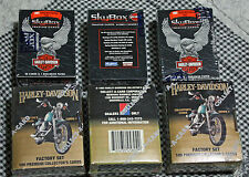 Lot of 6 Sets HARLEY DAVIDSON COLLECTOR CARDS Series II 2 & Skybox - 3 of each