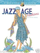 Jazz Age Fashion Adult Colouring Book Creative Art Therapy Relax Costume 1920s