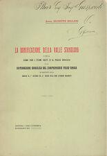 Belloni: La bonificazione della valle Standiana. Fosso ghiaia,Fiumi uniti 1915