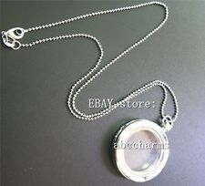 5pcs large floating locket necklace lot living charm locket pendants chains lot