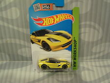 2015 HOTWHEELS ''HW WORKSHOP'' #233 = `14 CORVETTE STINGRAY = YELLOW   int