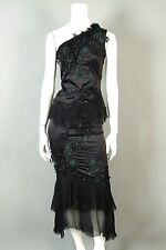 MANDALAY 2 Beaded Stretch Skirt Top Gown Cocktail Evening Dress Sequins Lace 2pc