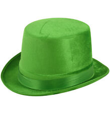 Irlandese Irlanda VERDE VELOUR TOP HAT S. Patrizio folletto FANCY DRESS h38537