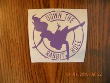 "Alice In Wonderland ""Down The Rabbit Hole"" lavender vinyl decal"