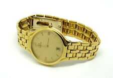 Mens Vintage Swiss OMEGA Deville 750 18k Solid Gold Quartz 1436 Watch 1960316