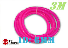 "6mm 1/4"" 0.25"" Silicone Vacuum Tube Hose Silicon Tubing 10ft 3M 3 Meters Pink"